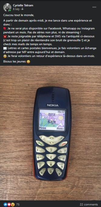 post FB déconnexion